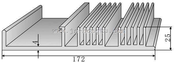电zi散热qi,u乐娱乐HT161.5×24.7mm规格