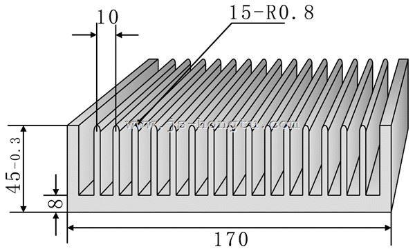 电zi散热qi,HT170×45mm规格